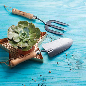 Personalised Fork And Trowel Set - garden