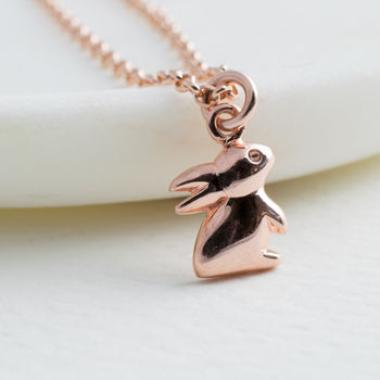 Rose Gold Rabbit Necklace