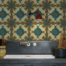 Majolica Kitchen Walls Backsplash Wallpaper
