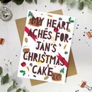 Personalised 'Christmas Cake' Funny Christmas Card