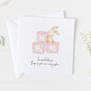 New Baby Card For Girls, Christening Card Girls ..3v7a