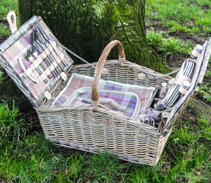 Personalised Lavender Tartan Barn Hamper For Four - sale by category