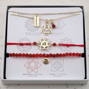 Sacral Chakra Jewellery Set In Gold Or Silver