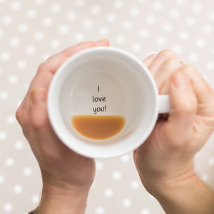 Plain I Love You Secret Message Mug