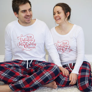 Personalised First Valentines As Mr And Mrs Pyjamas