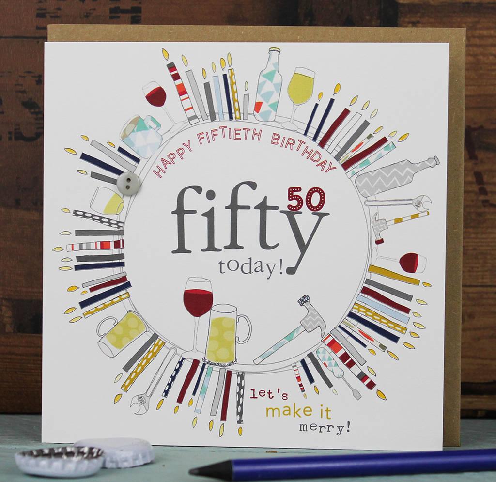 Female Male 50th Birthday Card