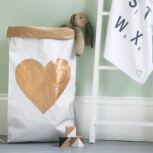 Heart Toy Storage Bag
