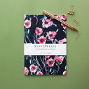 Winter Poppies A5 Notebook With Lined Pages