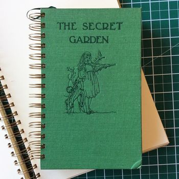 'The Secret Garden' Upcycled Notebook