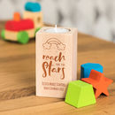 Personalised Reach For The Stars Candle Holder Gift