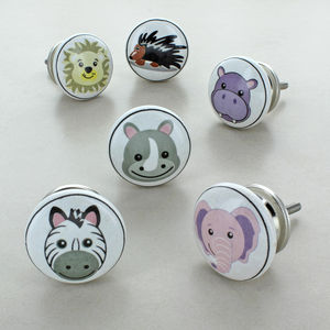 Animal Cartoons Children's Room Ceramic Door Knobs