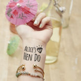 Personalised Diamond Hen Do Temporary Tattoos - health & beauty