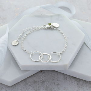 30th Birthday Personalised Infinity Link Bracelet