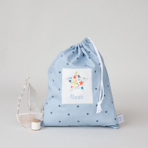 Personalised Handmade Little Star Laundry Bag