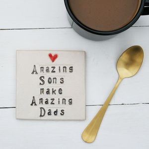 Amazing Sons Make Amazing Dads Coaster - dining room