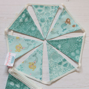 Mini Mermaid Seaside Cotton Bunting - bunting & garlands