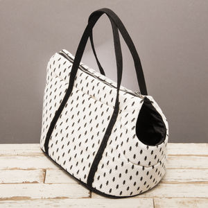 The Balmoral Black And White Dog Carrier