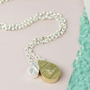 Personalised Mother And Baby Droplet Necklace - summer sale