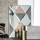 Tri Colour Tinted Glass Wall Mirror