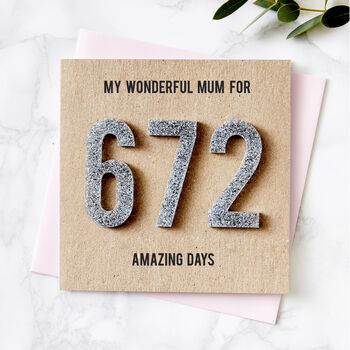 Personalised Amazing Days Mother's Day Card