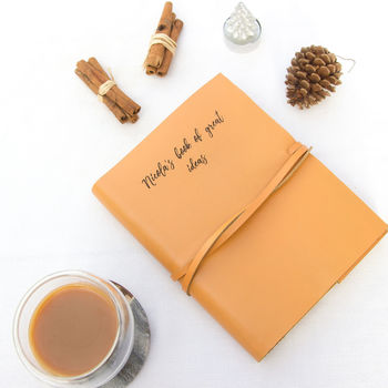 Personalised Hand Made Leather Journal
