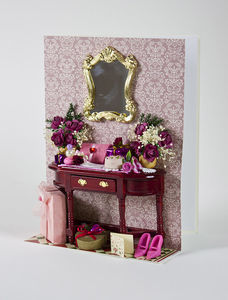 Romantic Dressing Table Luxury Valentine Card