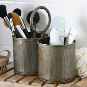 Vintage Metal Storage Pot - kitchen