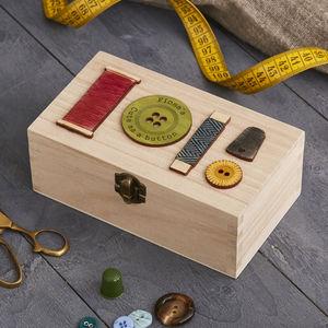 Personalised Sewing Bee Storage Box Rectangular - sewing & knitting