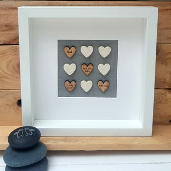 Handmade Wedding Love Hearts Artwork
