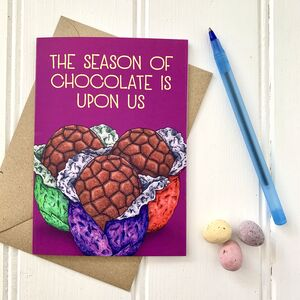 Funny Easter Egg Illustration Card
