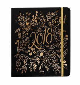 2018 Gold Foil Floral Diary Planner