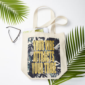 Your Vibe Attracts Your Tribe Tote Bag - new in fashion