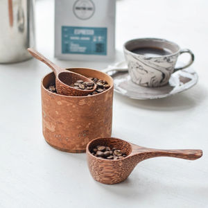 Coconut Wood Coffee Scoop - kitchen accessories