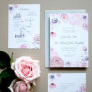 Roses And Peonies Wedding Invite Sample