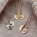 Personalised Split Coin Necklace Set
