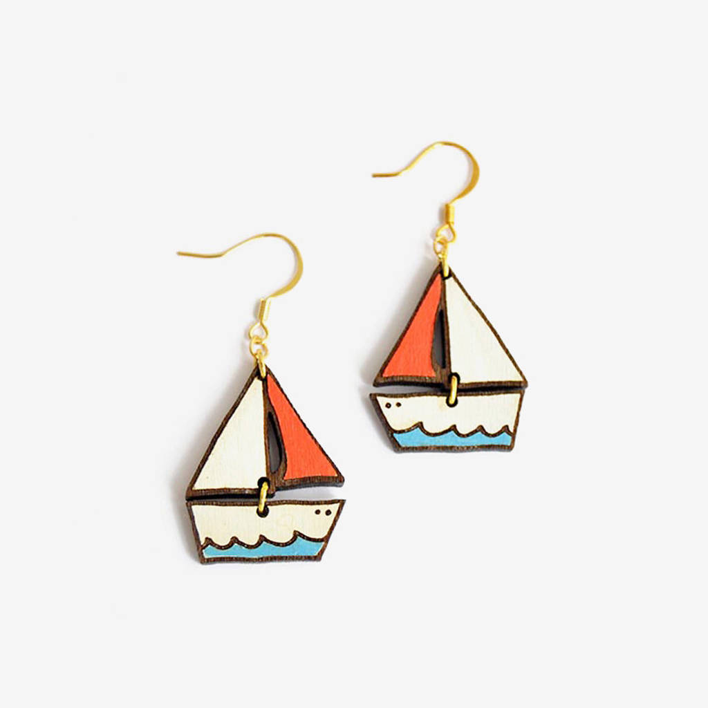 Dreamy Boat, Seaside Earrings