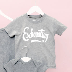 'Exhausting' Toddler T Shirt - t-shirts & tops
