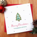 Personalised Handmade Xmas Tree Card