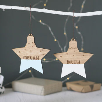 Personalised Name Star Bauble