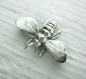 Sterling Silver Or Gold Honey Bee Charm - women's jewellery