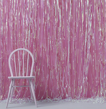 Rainbow Iridescent Fringe Curtain Party Decoration