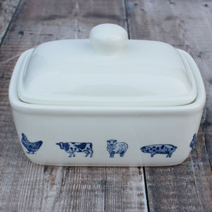 'Farm Animals' Butter Dish - kitchen