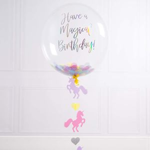 Personalised Unicorn Confetti Filled Balloon