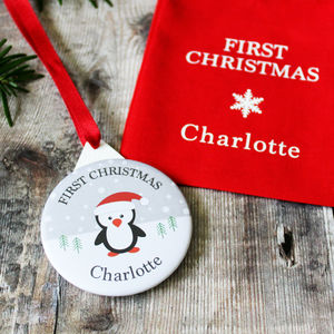 Baby's First Christmas Personalised Decoration - christmas decorations