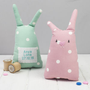 Personalised Baby Bunny Toy - handmade toys and games