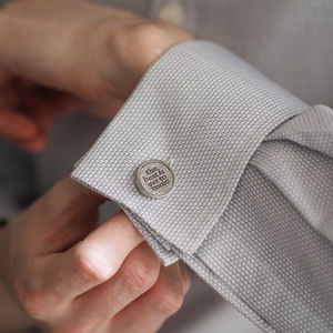 'The Best Is Yet To Come' Cufflinks - for him