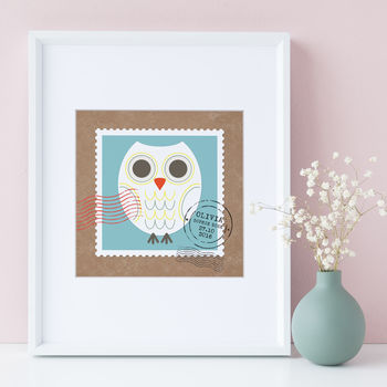 Personalised Baby Name Print Owl Or Bee