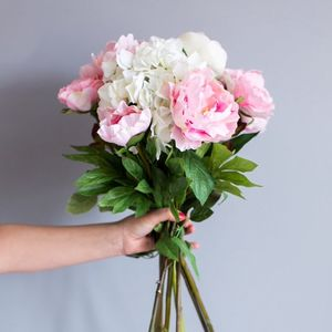 Faux Hydrangea And Peony Bouquet - home accessories