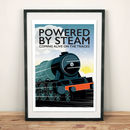 Steam Powered Railway Train Print