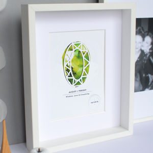 Personalised Paper Cut Birthstone Print - home accessories